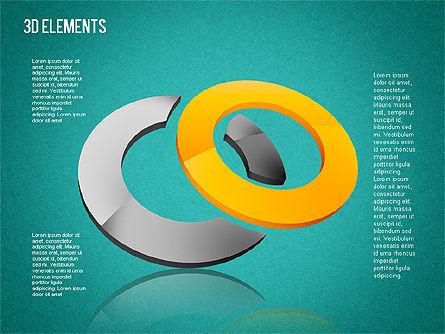 3D Shapes Toolbox, Slide 11, 01445, Shapes — PoweredTemplate.com