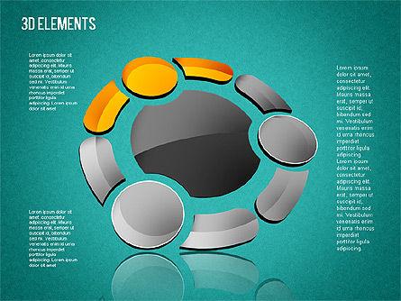 3D Shapes Toolbox, Slide 16, 01445, Shapes — PoweredTemplate.com