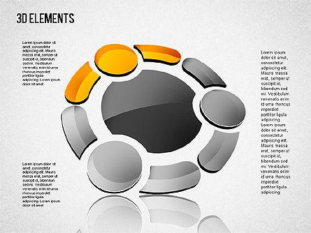 3D Shapes Toolbox, Slide 8, 01445, Shapes — PoweredTemplate.com