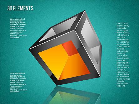 3D Shapes Toolbox, Slide 9, 01445, Shapes — PoweredTemplate.com