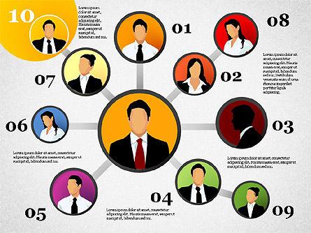 Business Network, Slide 11, 01447, Organizational Charts — PoweredTemplate.com