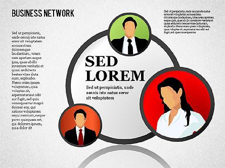 Business Network, Slide 12, 01447, Organizational Charts — PoweredTemplate.com