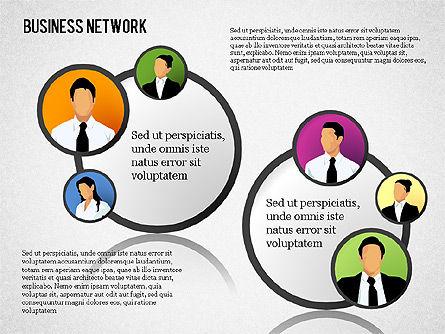 Business Network, Slide 13, 01447, Organizational Charts — PoweredTemplate.com