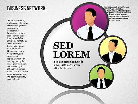Business Network, Slide 14, 01447, Organizational Charts — PoweredTemplate.com