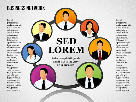 Business Network, Slide 15, 01447, Organizational Charts — PoweredTemplate.com