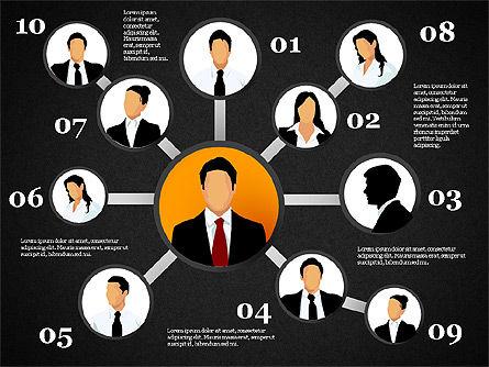 Business Network, Slide 16, 01447, Organizational Charts — PoweredTemplate.com