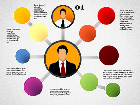 Business Network, Slide 2, 01447, Organizational Charts — PoweredTemplate.com