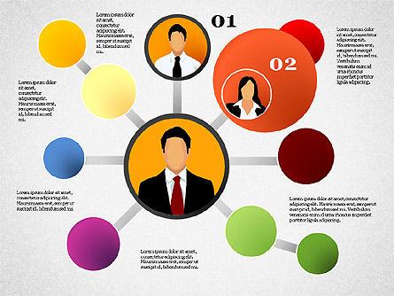 Business Network, Slide 3, 01447, Organizational Charts — PoweredTemplate.com