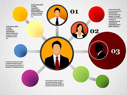 Business Network, Slide 4, 01447, Organizational Charts — PoweredTemplate.com