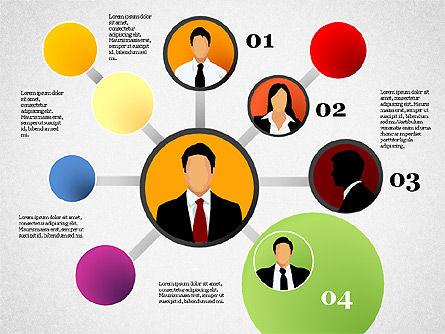 Business Network, Slide 5, 01447, Organizational Charts — PoweredTemplate.com