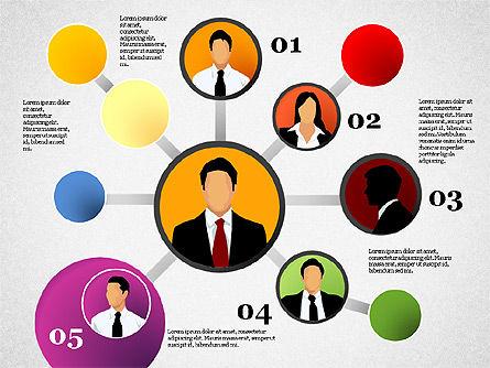 Business Network, Slide 6, 01447, Organizational Charts — PoweredTemplate.com