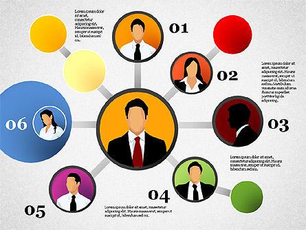 Business Network, Slide 7, 01447, Organizational Charts — PoweredTemplate.com