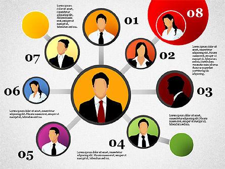 Business Network, Slide 9, 01447, Organizational Charts — PoweredTemplate.com