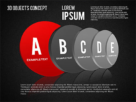 3D Objects Concept , Slide 12, 01450, Business Models — PoweredTemplate.com