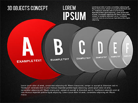 3D Objects Concept , Slide 13, 01450, Business Models — PoweredTemplate.com