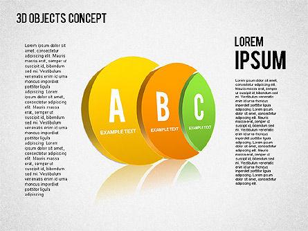 3D Objects Concept , Slide 2, 01450, Business Models — PoweredTemplate.com