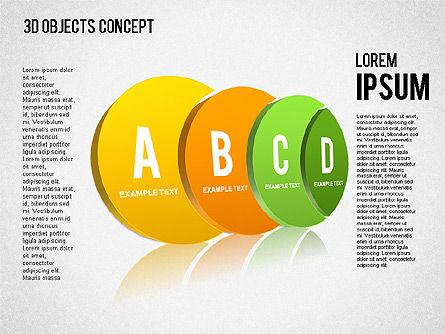 3D Objects Concept , Slide 3, 01450, Business Models — PoweredTemplate.com