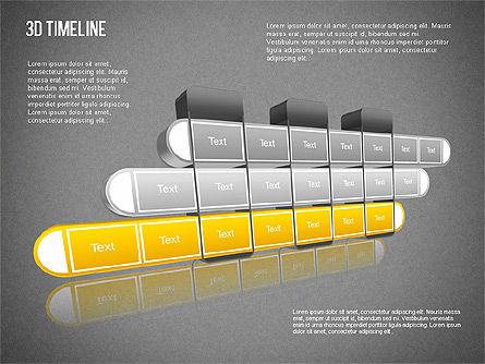 3D Timeline Slide 14