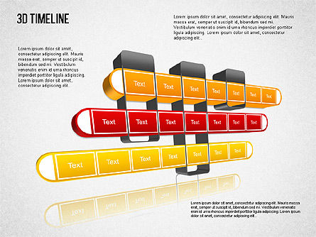 3D Timeline Slide 6