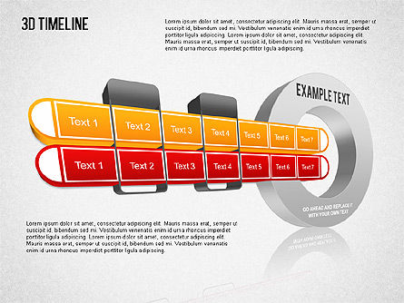 3D Timeline Slide 9