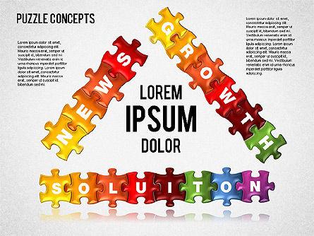 Puzzle Concepts, Slide 10, 01458, Puzzle Diagrams — PoweredTemplate.com