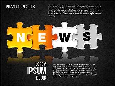 Puzzle Concepts, Slide 13, 01458, Puzzle Diagrams — PoweredTemplate.com