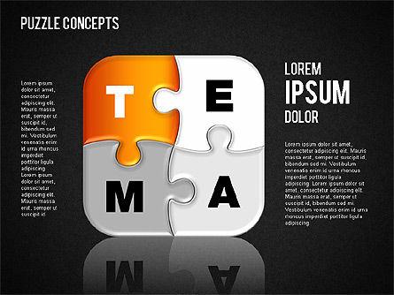Puzzle Concepts, Slide 14, 01458, Puzzle Diagrams — PoweredTemplate.com