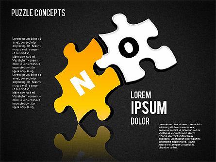 Puzzle Concepts, Slide 15, 01458, Puzzle Diagrams — PoweredTemplate.com