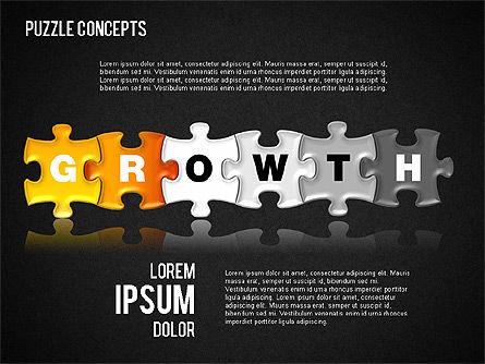 Puzzle Concepts, Slide 16, 01458, Puzzle Diagrams — PoweredTemplate.com
