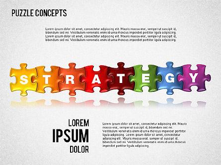 Puzzle Concepts, Slide 2, 01458, Puzzle Diagrams — PoweredTemplate.com