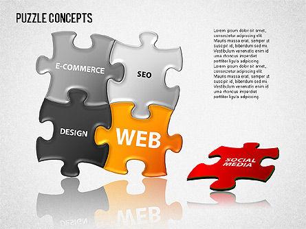 Puzzle Concepts, Slide 3, 01458, Puzzle Diagrams — PoweredTemplate.com
