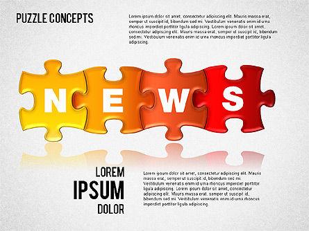 Puzzle Concepts, Slide 4, 01458, Puzzle Diagrams — PoweredTemplate.com