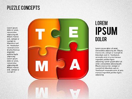 Puzzle Concepts, Slide 5, 01458, Puzzle Diagrams — PoweredTemplate.com