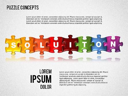 Puzzle Concepts, Slide 6, 01458, Puzzle Diagrams — PoweredTemplate.com
