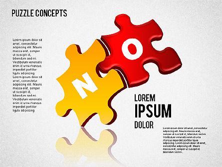 Puzzle Concepts, Slide 7, 01458, Puzzle Diagrams — PoweredTemplate.com