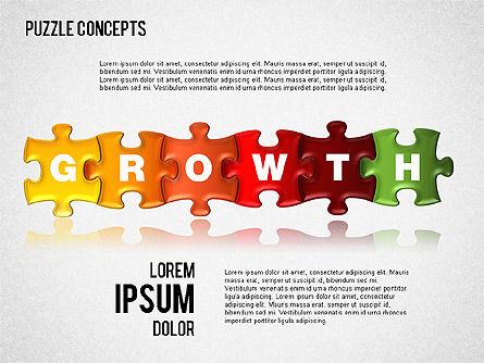 Puzzle Concepts, Slide 8, 01458, Puzzle Diagrams — PoweredTemplate.com
