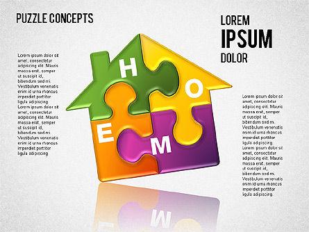 Puzzle Concepts, Slide 9, 01458, Puzzle Diagrams — PoweredTemplate.com