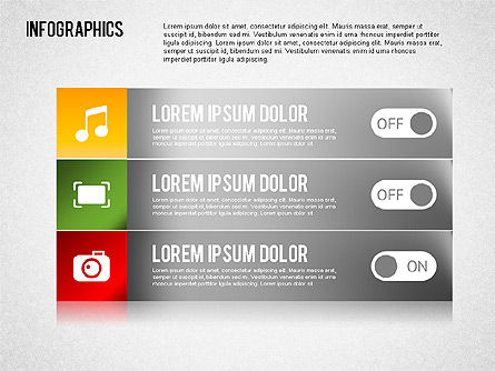 Collection d'infographies, Diapositive 3, 01459, Formes — PoweredTemplate.com