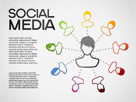 Social Media Shapes and Icons, Slide 2, 01460, Shapes — PoweredTemplate.com