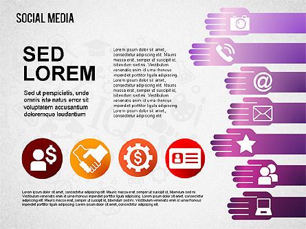 Social Media Shapes and Icons Slide 4