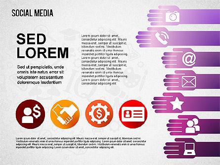 Social Media Shapes and Icons, Slide 4, 01460, Shapes — PoweredTemplate.com