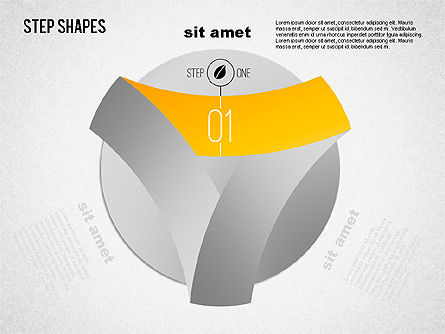 Loop Stages Shapes, Slide 2, 01461, Stage Diagrams — PoweredTemplate.com