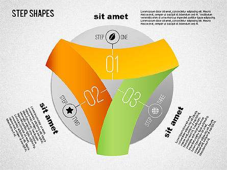 Loop Stages Shapes, Slide 4, 01461, Stage Diagrams — PoweredTemplate.com
