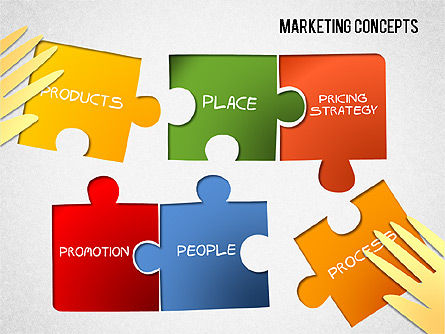 Marketing Concepts Diagram, 01462, Stage Diagrams — PoweredTemplate.com