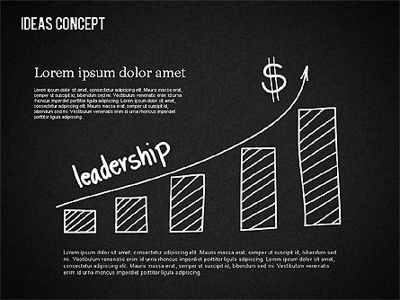 Ideas Concept on Chalkboard, Slide 2, 01464, Business Models — PoweredTemplate.com