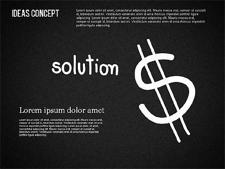 Ideas Concept on Chalkboard, Slide 4, 01464, Business Models — PoweredTemplate.com