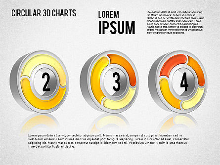 Circular 3D Charts, Slide 13, 01465, Stage Diagrams — PoweredTemplate.com