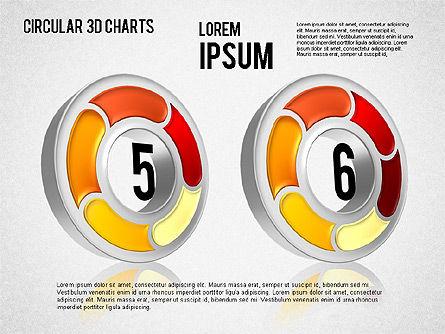 Circular 3D Charts, Slide 14, 01465, Stage Diagrams — PoweredTemplate.com
