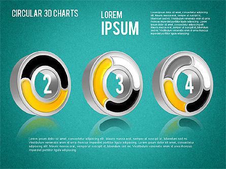 Circular 3D Charts, Slide 15, 01465, Stage Diagrams — PoweredTemplate.com