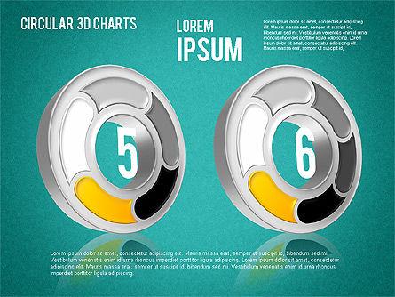 Circular 3D Charts, Slide 16, 01465, Stage Diagrams — PoweredTemplate.com